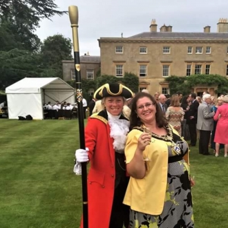 At the High Sheriff's annual Garden Party with Beadle, Emma Davies