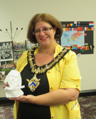 Mayor of Stratford Victoria Alcock at the British Origami Society Convention